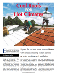 JLC - Cool Roofs for Hot Climates